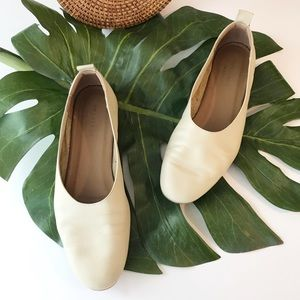 Everlane Day Glove Flats in Cream Comfort Leather